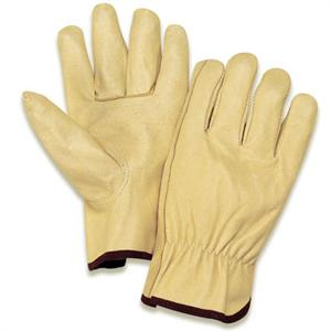Pigskin grain leather driver's gloves make work more comfortable