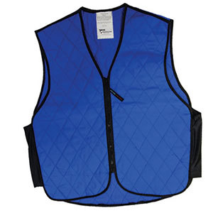 Provide relief in hot weather with an evaporative cooling vest