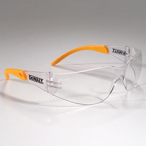 DeWALT® Protector™ safety glasses offer coverage, comfort, and compliance