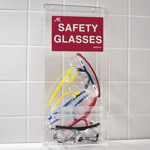 Encourage eye protection with convenient safety glasses dispenser