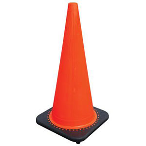 "Safeguard work crews with quick-recovering JBC™ 28"" cones"