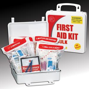 Easily access hundreds of essential first aid items