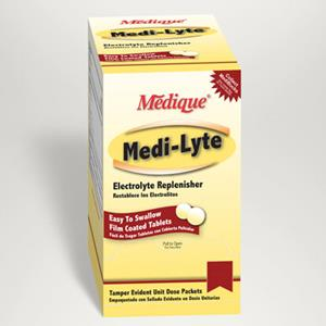 Medique® Medi-Lyte electrolyte tablets can help control heat stress