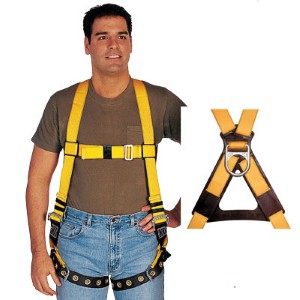 Prevent fall injuries with a DBI SALA® Delta No-Tangle™ Full Body Vest Style Fall Protection Harness with Tongue Buckle Leg Straps and Back D-Ring