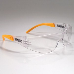 DeWALT® Protector™ safety glasses provide style and comfort in a clear lens