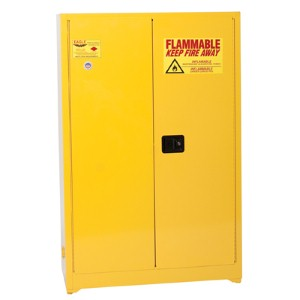Keep flammable liquids safe with a storage cabinet