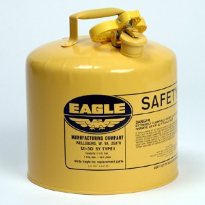 Eagle 5-gallon can for safe storage of diesel fuel