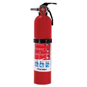Rechargeable, affordable First Alert® multipurpose fire extinguisher