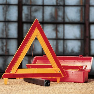 Alert oncoming traffic with this triangle kit