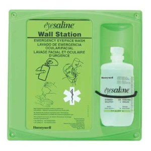 Honeywell Eyesaline® eye wash station is perfect in emergency situations