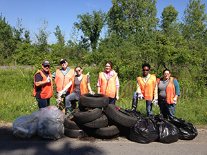 Northern Safety associates clean up Industrial Park Drive