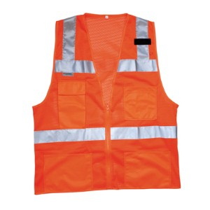 Make workers highly visible with a NS® Class 2 Deluxe Mesh Safety Vest