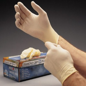 Textured Microflex® gloves give workers maximum grip