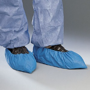 Polyethylene shoe covers can limit wear and tear of shoes and boots