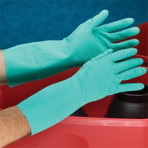 Maximize chemical splash protection with nitrile gloves