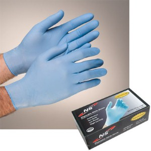 NS® Disposable Industrial Grade 4 mil Powdered Nitrile Gloves offer protection and dexterity