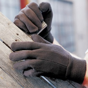 NS® Economy Weight Standard Size Brown Jersey Work Gloves deliver comfortable protection