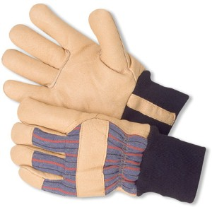 Keep hands warm and comfortable with pigskin leather work gloves