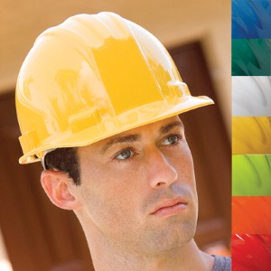 Hard hat helps protect workers