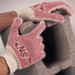String knit work gloves combine abrasion resistance and affordability