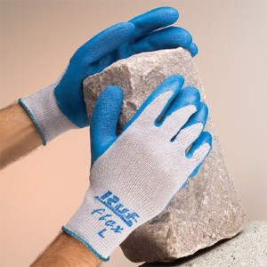 Help reduce workplace hand injuries with premium rubber palm coated work gloves