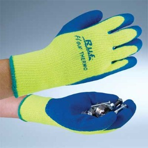Rubber palm coated work gloves support workers in cold environments