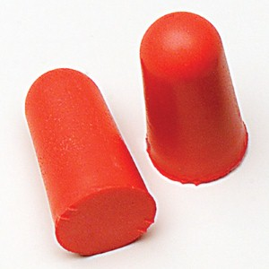 Foam ear plugs provide employees' high-quality hearing protection