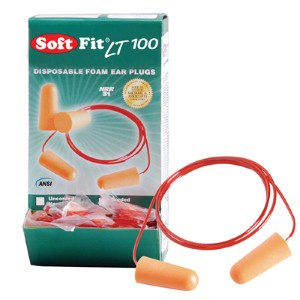NS® Soft Fit® LT 100 ear plugs are comfortable and easy to spot