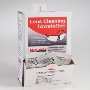Northern Safety's lens-cleaning towelettes clear the way for optimum vision