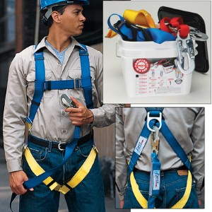 Convenient fall protection kit assures compliance
