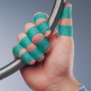 SAF-T-TAPE® green finger wrap tape offers an alternative to bulky gloves