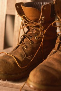 Steel-toed boots and foot protection for workers