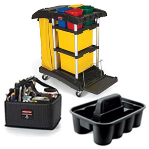 Shop Cleaning Carts and Caddies