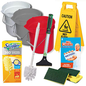 Shop Cleaning Tools and Supplies